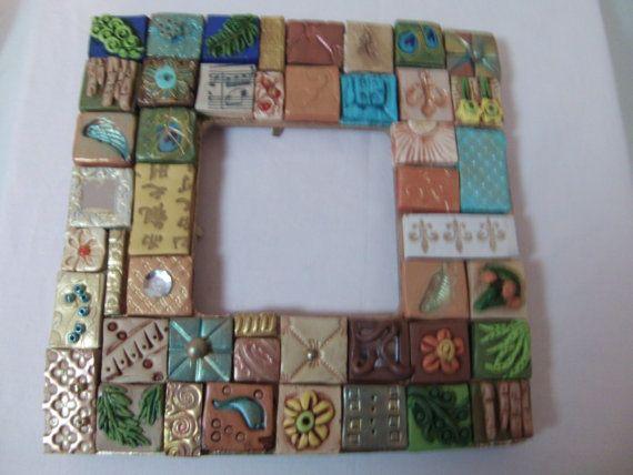 Crazy Tiles Mosaic Picture Frame By Kkspolymerclayart On Etsy