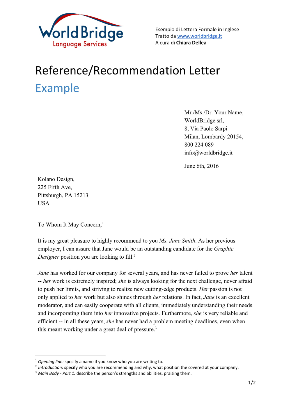 9+ Reference Letter From A Previous Employer Examples