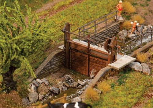 NEW-HO-Faller-TWO-Different-size-SMALL-DAMS-Model-Building-KIT-180390