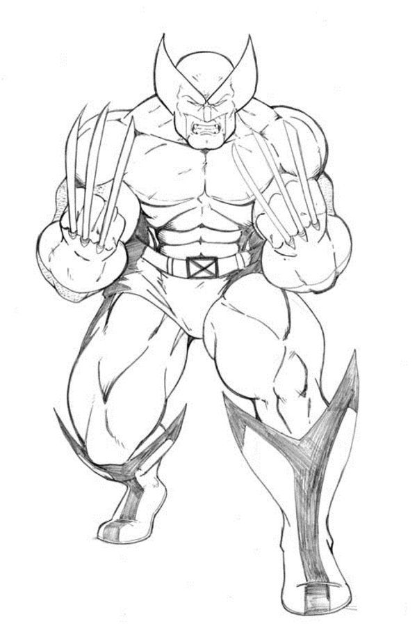 Free Printable Wolverine Coloring Pages For Kids Avengers Coloring Pages Avengers Coloring Superhero Coloring