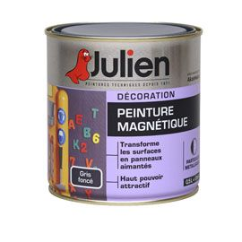 peinture magn tique coloris gris fonc 0 5 l house tool. Black Bedroom Furniture Sets. Home Design Ideas