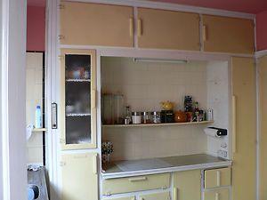 Details about Retro vintage original 1930's kitchen units ...
