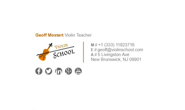 This Is An Email Signature Example For Teachers Email Signatures Teacher Violin Teacher