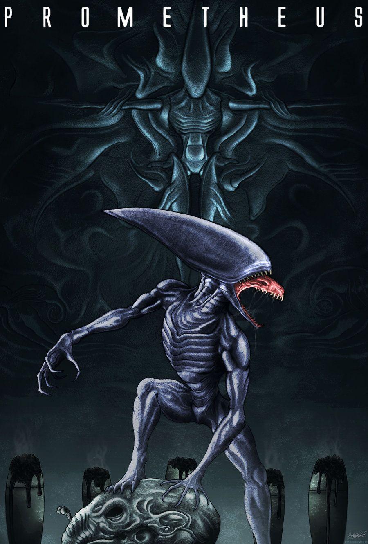 Deacon prometheus prometheus aliens predator universe for Prometheus xenomorph mural