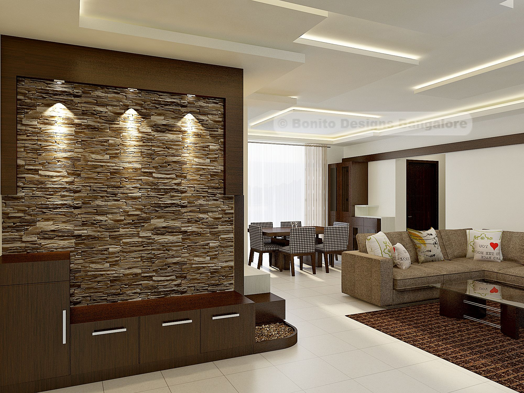 Amazing foyer with stone cladding | Home Decore ...