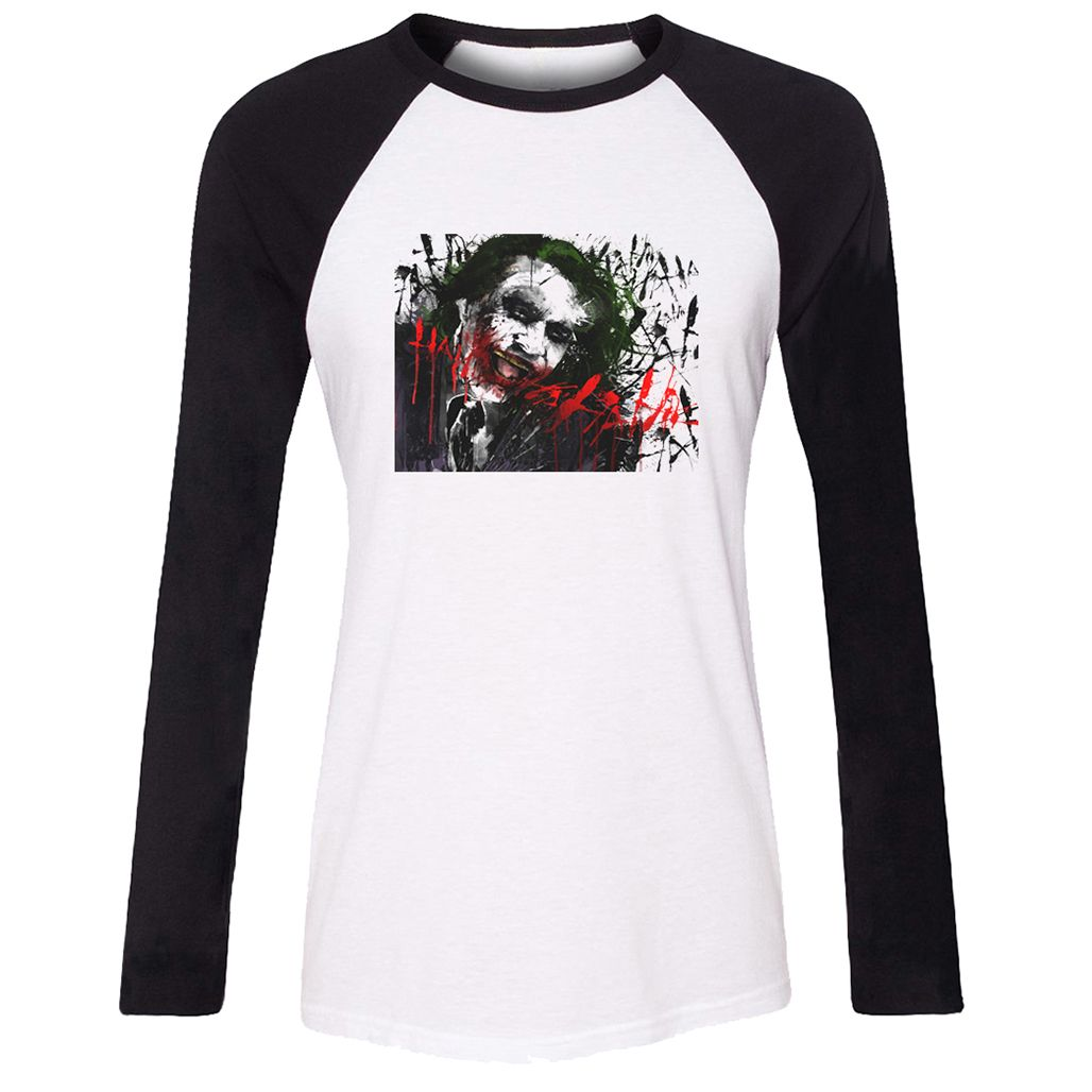 Design t shirt en ligne - Batman Jack Design T Shirt For Women Girls Long Sleeves Tee Tops Gift Creative Letters