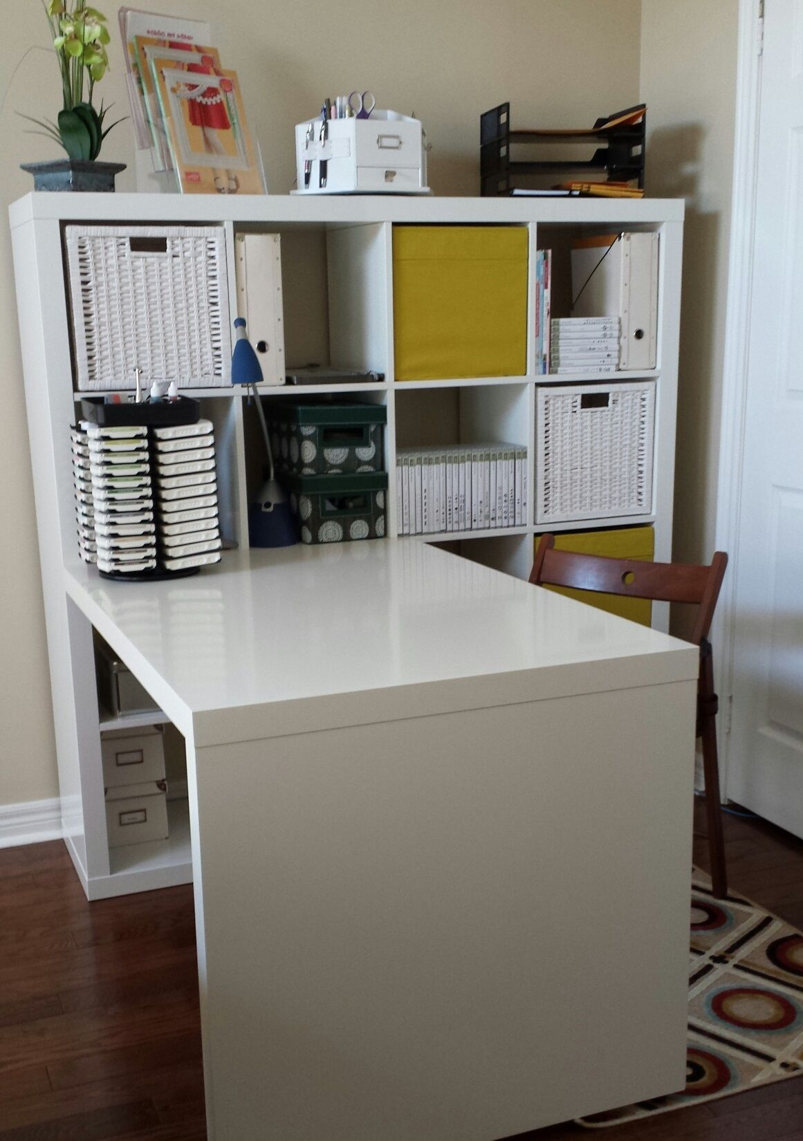 Ikea Office Design This Creative Space Craft Room Ikea Expedit Deck And