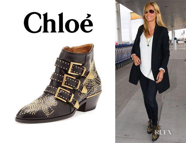 e799199a Heidi Klum's Chloé 'Suzanna' Studded Leather Ankle Boots ...