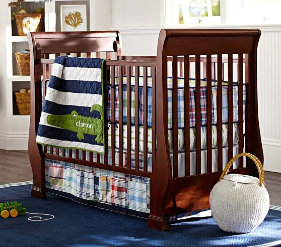 Alligator Madras Nursery Bedding Set Pottery Barn Kids