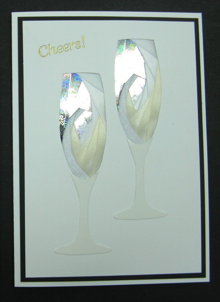 Iris Folding Pair Of Champagne Glasses Pattern From 460 Iris Folded Cards To Make The Complete Iris Iris Paper Folding Iris Folding Pattern Card Patterns