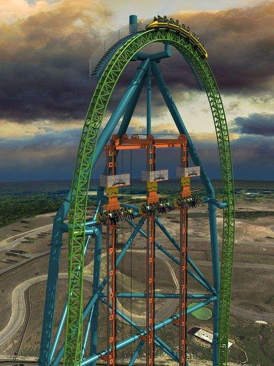 New Six Flags Ride Zumanjaro Drop Of Doom To Feature 90 Mph Drop Roller Coaster Amusement Park Rides Scary Roller Coasters