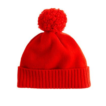 Girls' cashmere solid hat