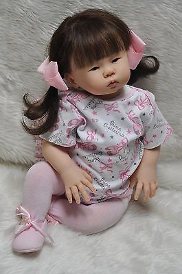 ~REBORN~Adorable~Asian Baby Girl~Doll~*Mae*Sandy Faber*GREAT LOW SALE PRICE*