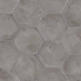 Zeshoekige tegels streker tegelhuis streker tegelhuis badkamer pinterest zeshoekige - Tegel grijs antraciet gepolijst ...