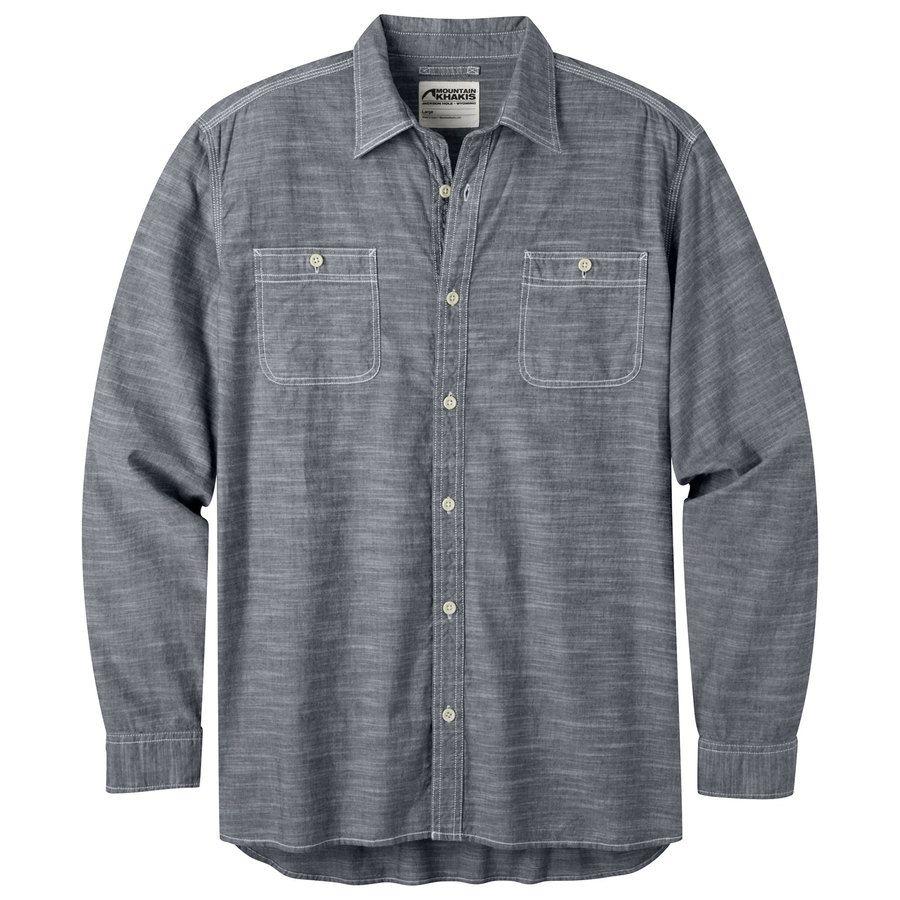 Mountain khakis menus mountain chambray long sleeve shirt