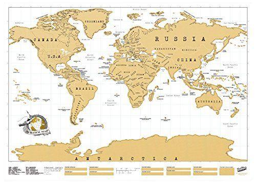 Luckies of London USLUSCR Scratch Map Carte du monde à gratter