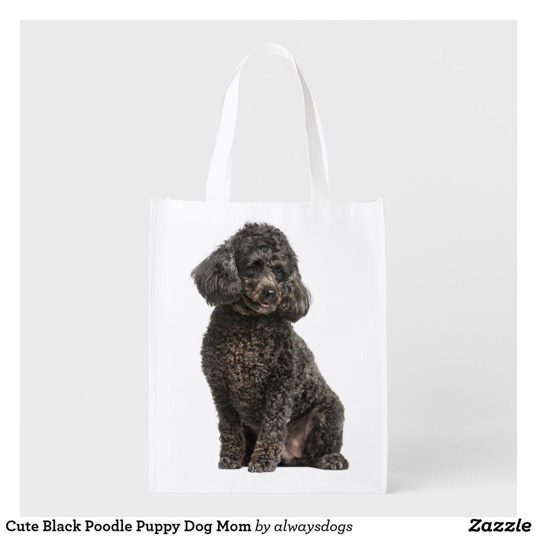 Cute Black Poodle Puppy Dog Mom Grocery Bag  #blackpoodle #blackpoodles #poodletotebag #poodletote #poodlelover #poodlelovers #poodlemom #miniaturepoodle #miniatureblackpoodle #miniaturepoodlepuppy #cutepoodle #cutedog #cutepuppy #alwaysdogs #puppyexpressions