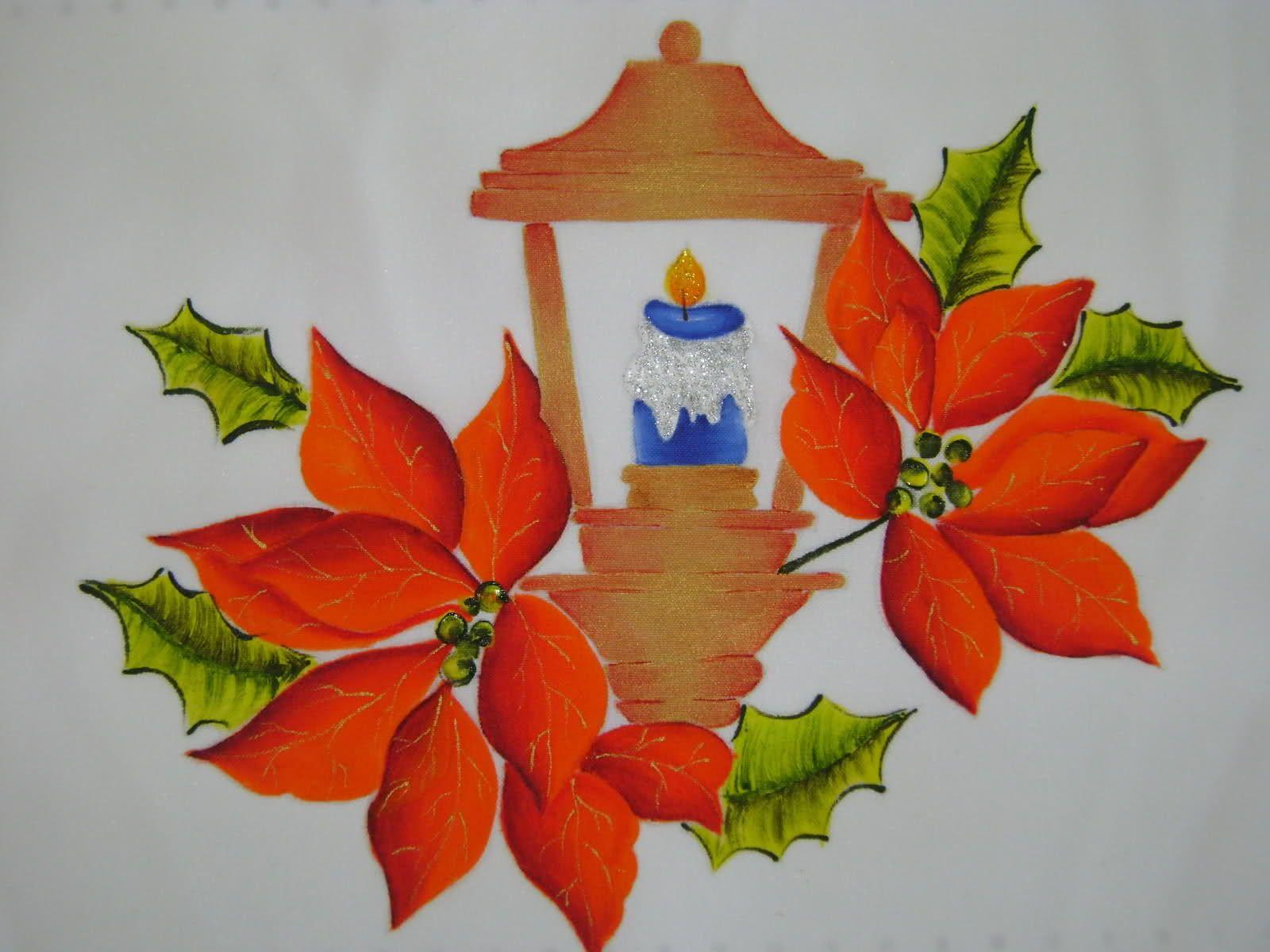 navideos pintados en tela buscar con google