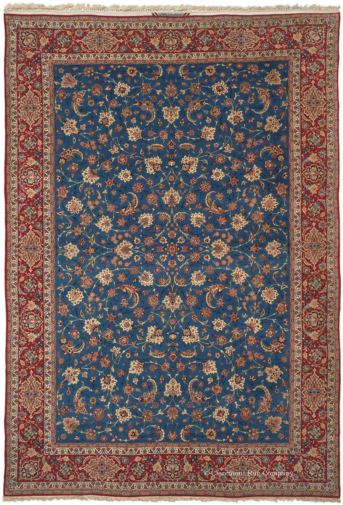 Isfahan Central Persian 8ft 6in X 12ft 7in Circa 1950 Persian Carpet Stair Runner Carpet Rugs