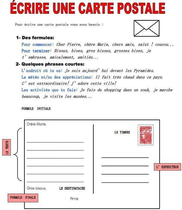 u00c9crire une carte postale
