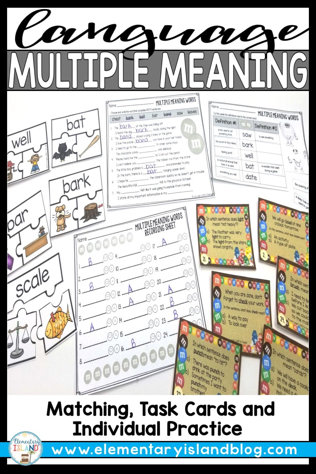 Multiple Meaning Words Worksheets Activities And Task Cards Multiple Meaning Words Multiple Meaning Words Worksheet Task Cards
