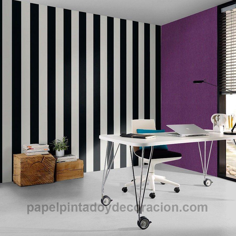 Papel Pintado Rayas Negro Y Blanco Pdw9286694 Papel Pintado  ~ Papel Pintado Rayas Gris Y Blanco