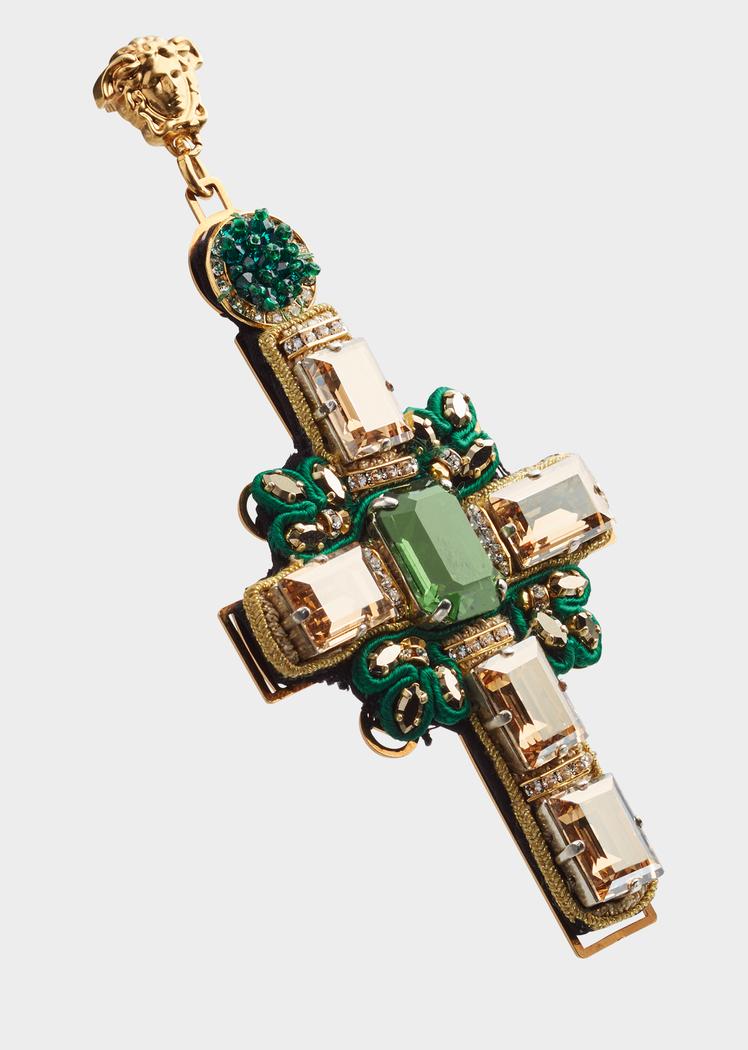3ecab3a0d6a Embellished Cross Earrings - Versace Earrings