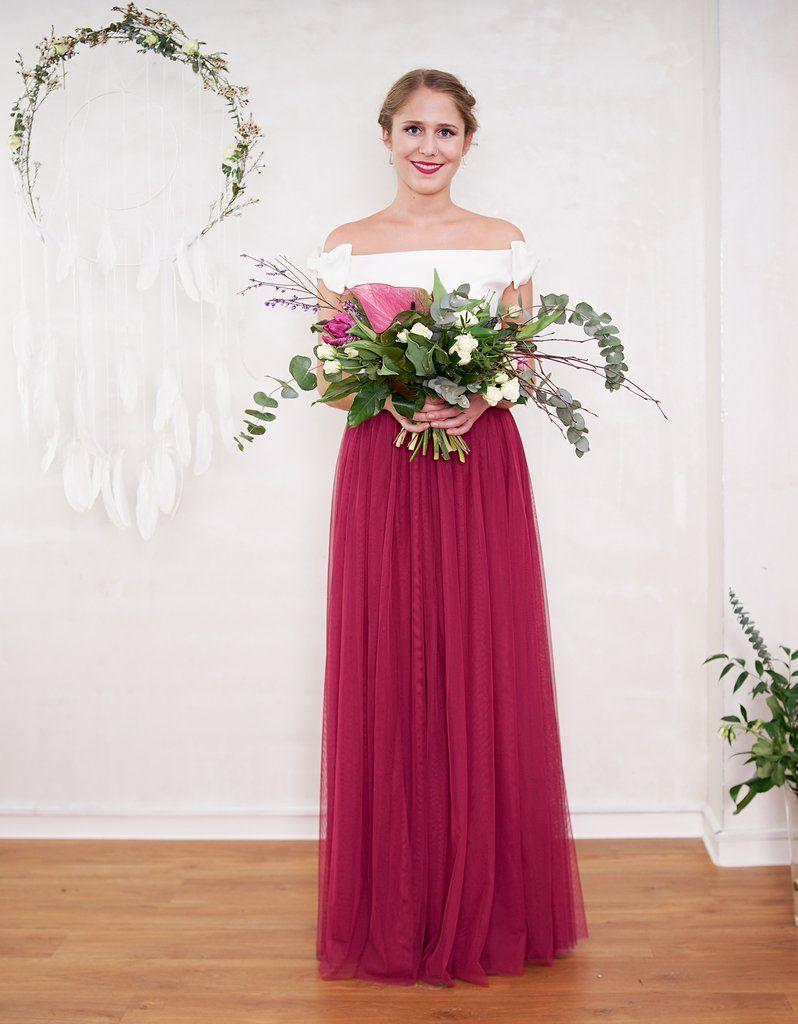 Langer Tüllrock - Hochzeitsrock - Braut Standesamt Dieser ...