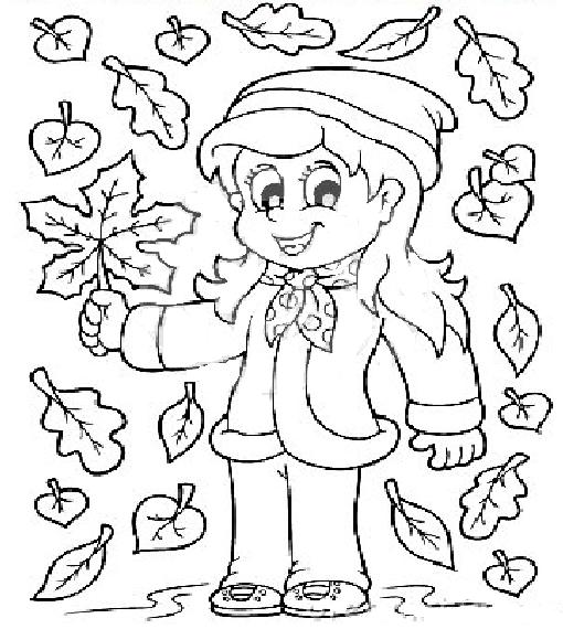 Frunze de toamna de colorat - 20 | Fise de lucru - gradinita ...