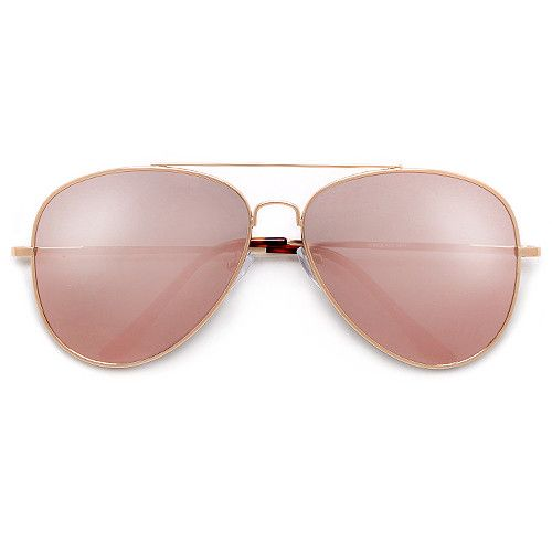a2b7a03ba 62mm Rose Gold Pink Ultra Chic Fashion Aviator | Bags, Shades ...