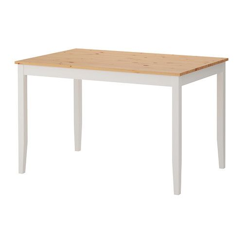 Beistelltisch metall ikea  LERHAMN Table, light antique stain, white stain | White stain ...