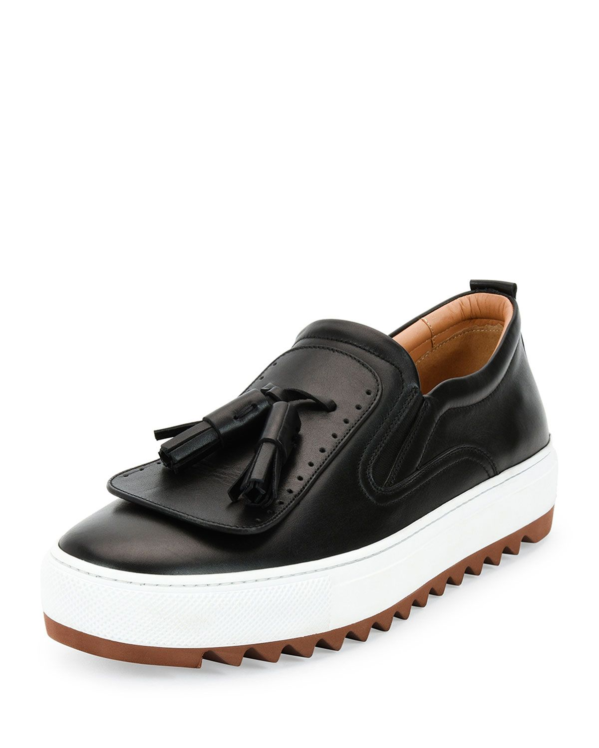 Lucca Calfskin Runway Sneaker with Oversized Tassels on Archival Sole c7fec4875
