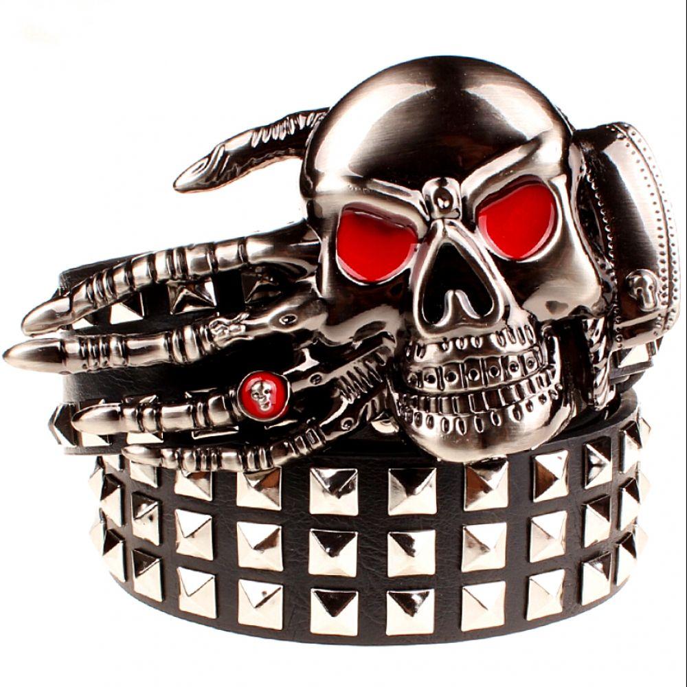 Men/'s Leather Belt Skull Joker Buckle Unique Accessories for Men Hot Trend 2018