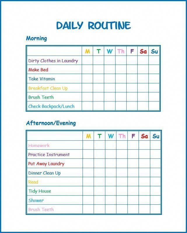 Pin On Chores And Reward Charts