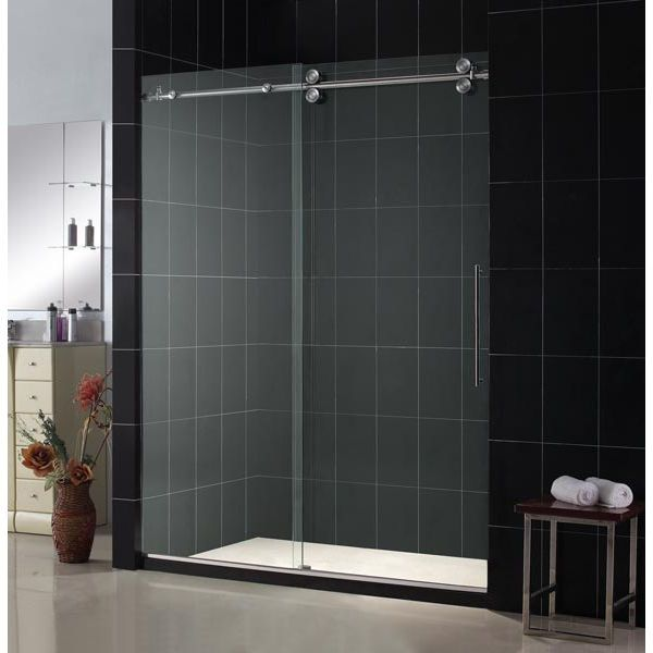 Enigma X 60 X 79 Single Sliding Frameless Shower Door With