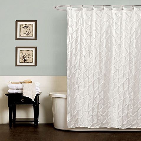 Noelle Pintuck 72 Inch X 84 Shower Curtain In White