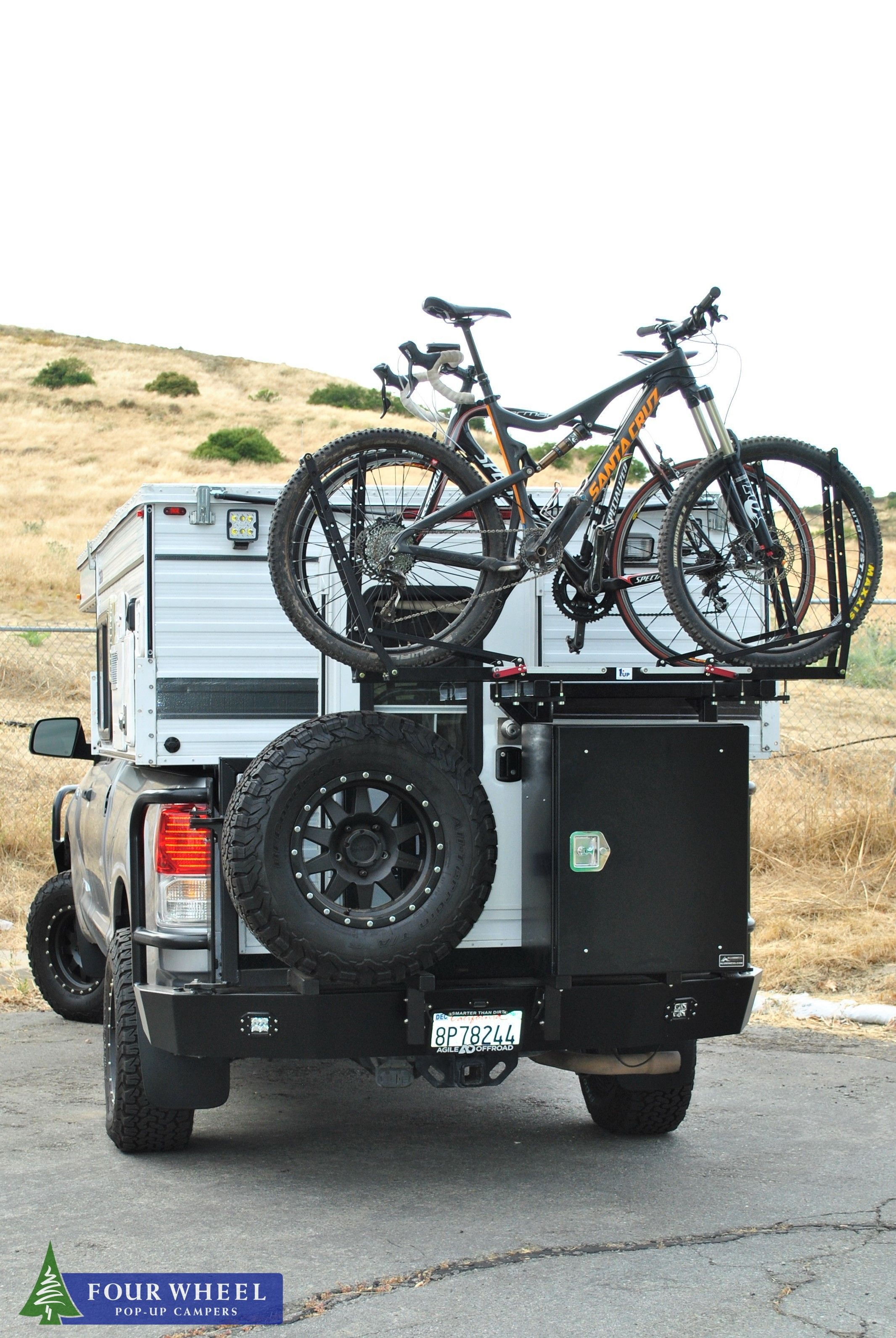 Vanlife With The Bike At The Back Of Your Popuptruckcampers