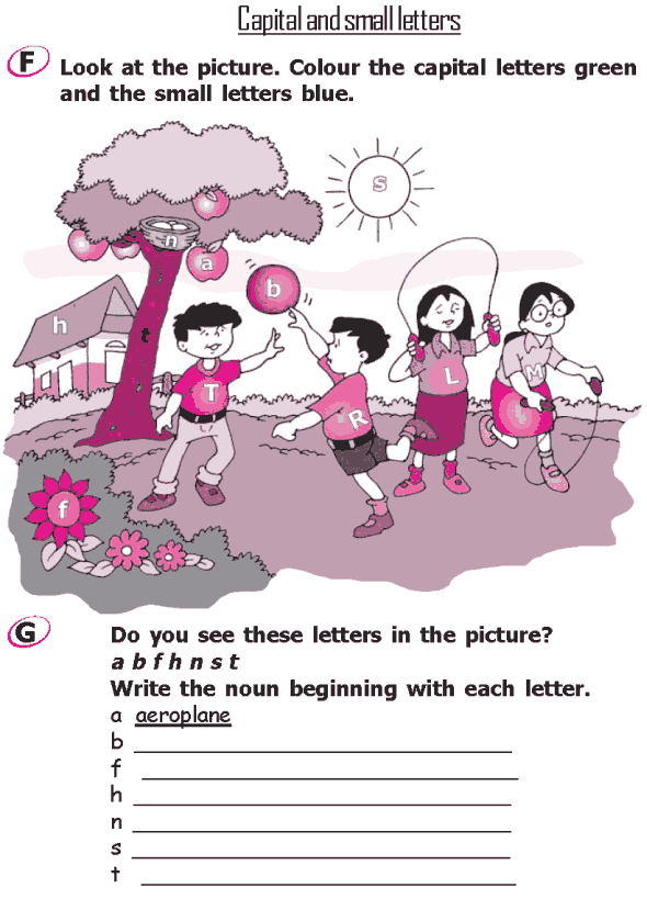 Grade 2 Grammar Lesson 1 The alphabet – Capital and small ...