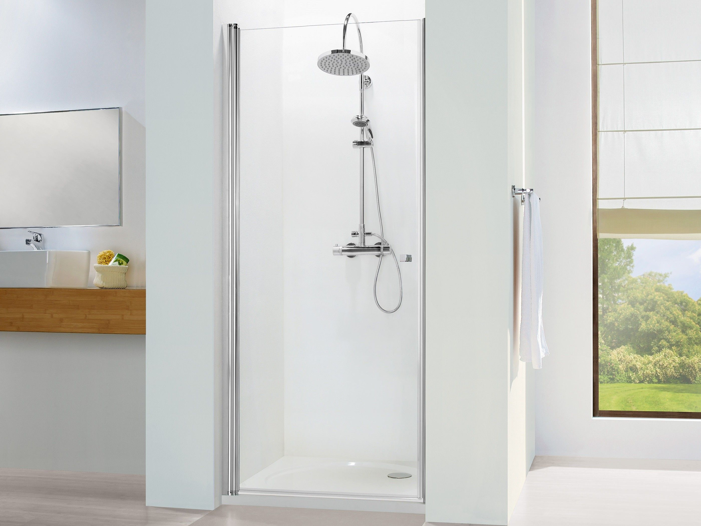 duschabtrennung nische pendelt r 60 x 220 cm duscht ren nischent ren pinterest. Black Bedroom Furniture Sets. Home Design Ideas