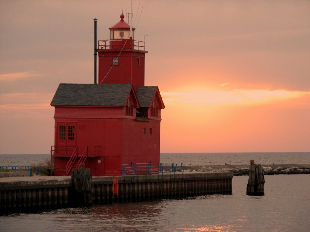 "Holland Harbor, Western Michigan! Known as ""Big Red"""