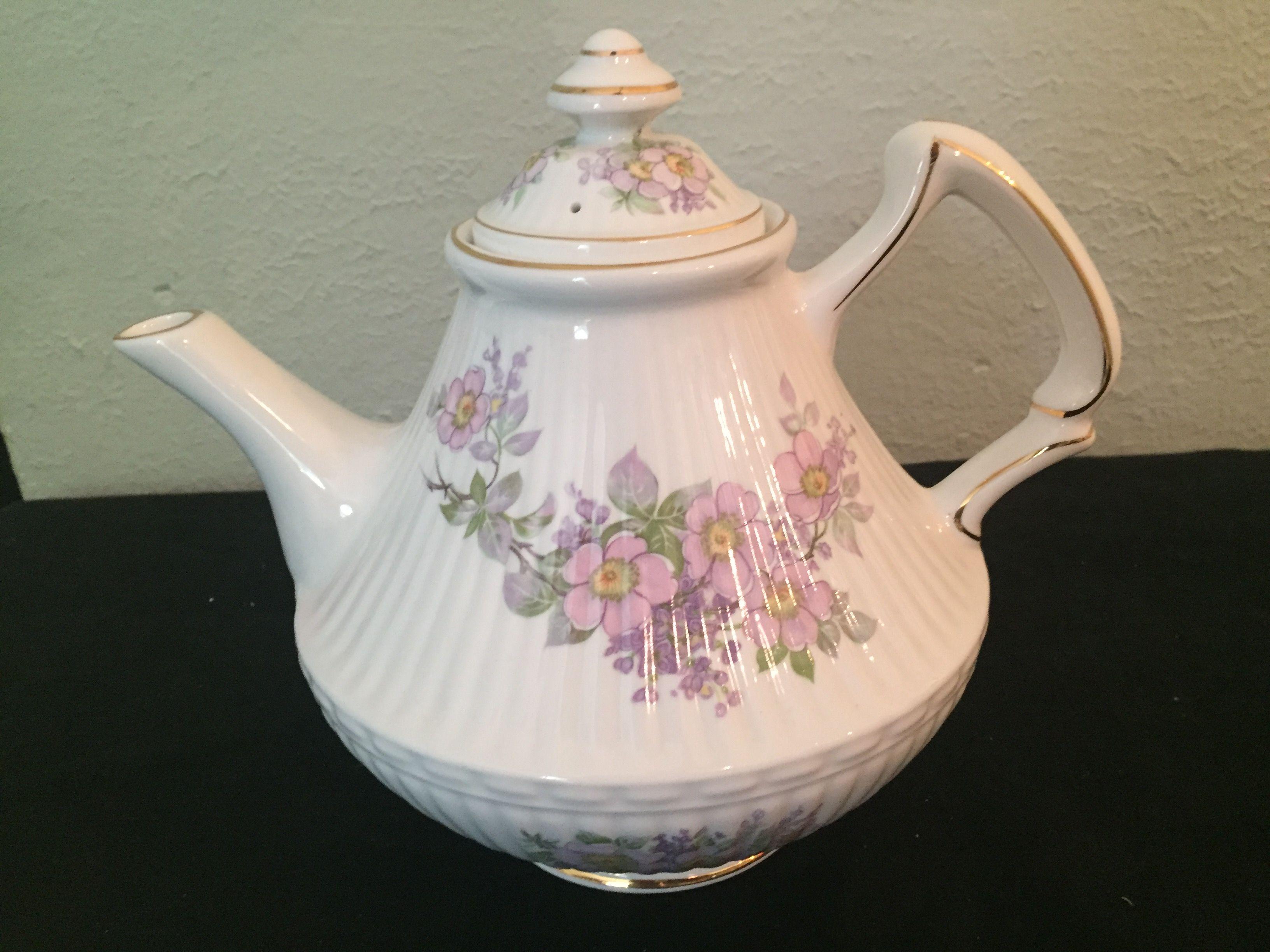 Teapot Wild Irish Rose. Lavender Handmade in Galway