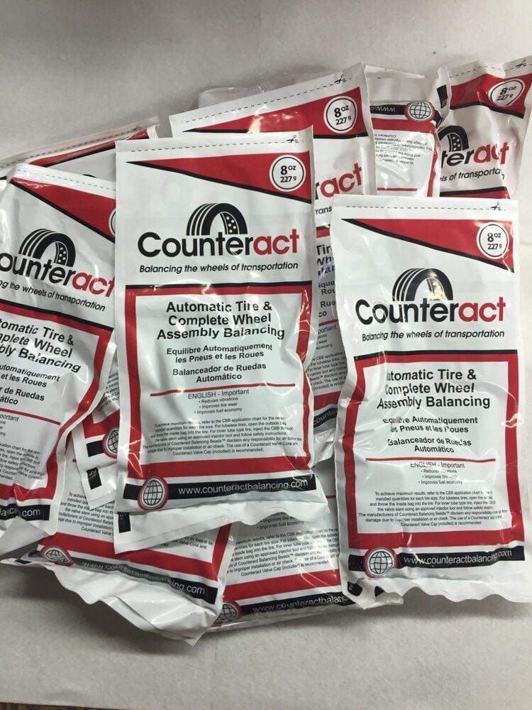 6 Bags 8oz Counteract Tire Balance Bead Bags