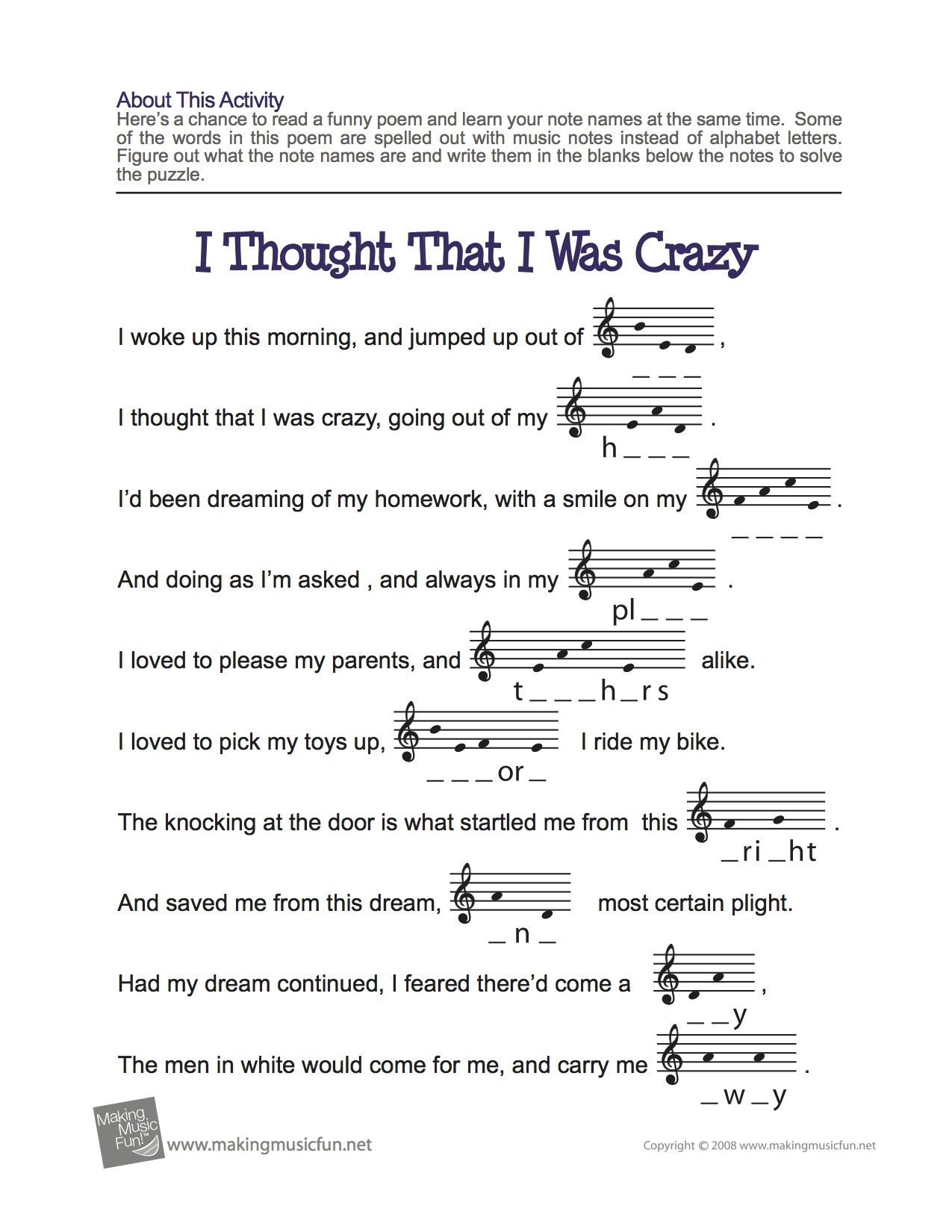 worksheet Note Name Worksheets treble clef fun note spelling easy music theory for middle school learn your names with our i thought that was crazy name worksheet free digital print work