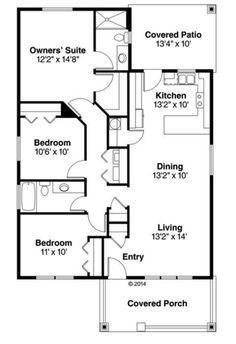 Plano casa de una planta tres dormitorios y 118 metros for Piso 70 metros cuadrados 3 habitaciones