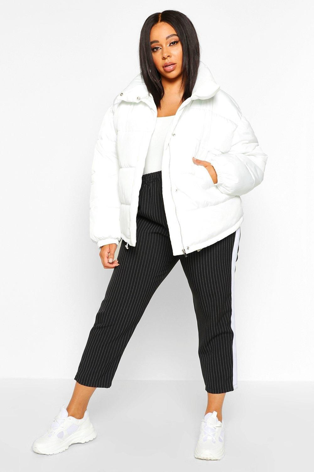 Plus Funnel Neck Cropped Puffer Jacket Boohoo Cropped Puffer Jacket Latest Coats Puffer Jackets [ 1500 x 1000 Pixel ]