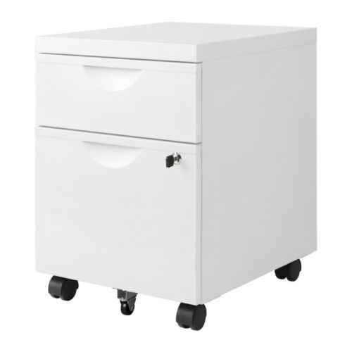 Ikea erik cajonera con 2 cajones y ruedas blanco cajones para carpetas colgantes para - Muebles con ruedas ikea ...