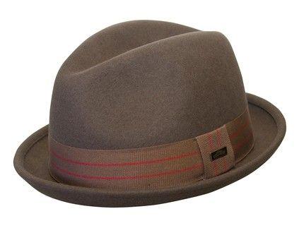 Conner Wool Felt Center Dent Fedora. Conner Wool Felt Center Dent Fedora  Trilby Hat ... 87daf33f49ce
