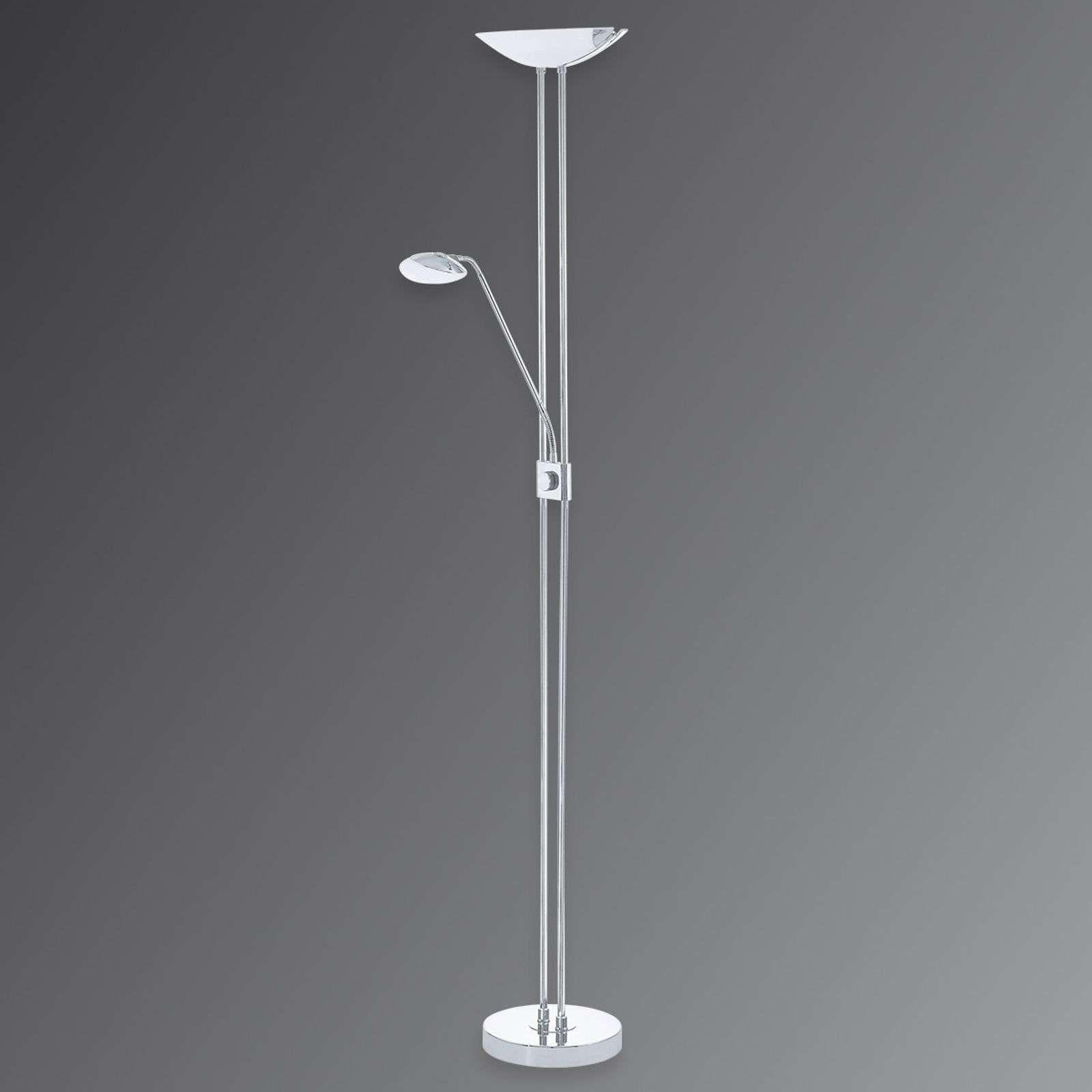 Moderne Stehlampe Baya Von Eglo Silber Deckenfluter Led