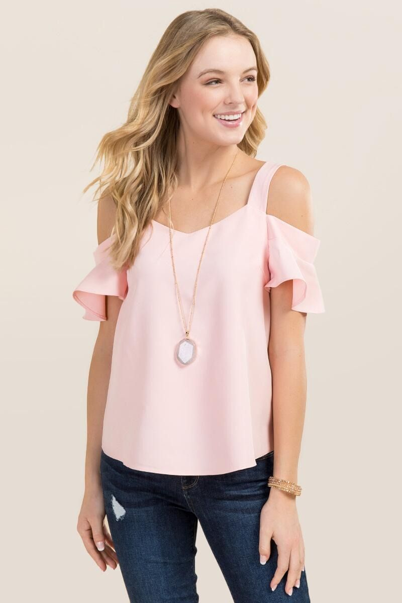 e05efbb8b88 Fawn Cold Shoulder Sweetheart Top | Tops in 2019 | Spring dresses ...