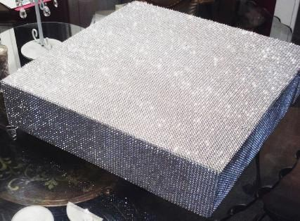 Super Bling Cake Stand Cakestand Square Round 12 14 16 18 20 22 24 All Over Plateau Riser Wedding